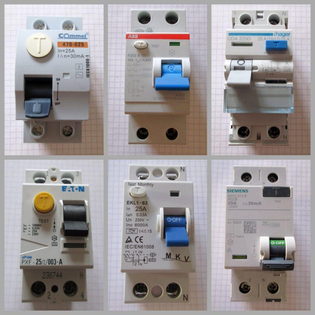 Übersicht FI-Schalter