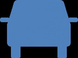Stirnfläche eines Autos